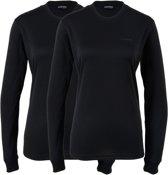 Campri Thermoshirt lange mouw (2-PACK) - Sportshirt - Dames - Maat M - Zwart