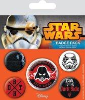 STAR WARS buttons - Pack 5 Badges - Dark Side