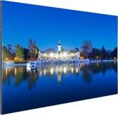 De Retreat bij nacht Aluminium 90x60 cm - Foto print op Aluminium (metaal wanddecoratie)