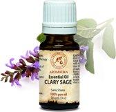 Clary sage (scharlei olie) etherische olie 10ml, 100% zuiver en natuurlijk, voor massage / spa / wellness / parfum / ontspanning / aromatherapie / schoonheid / essentiele olie / geurolie / geurverspreider / cosmetica / huidverzorging van Aromatika