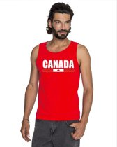 Rood Canada supporter mouwloos shirt heren - Canada singlet shirt/ tanktop L