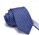 ThannaPhum Donkerblauwe zijden stropdas