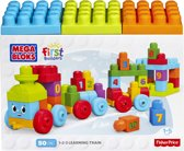 Mega Bloks First Builders 1 2 3 Leertrein - 50 stukjes - Constructiespeelgoed