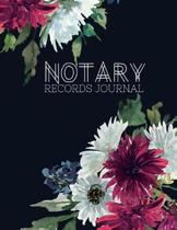 Notary Records Journal: Notary Public Official Records Journal Log Book, 110 pages 8.5'' X 11'' 110 pages Matte Floral Cover