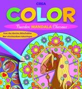 Crea color paarden mandala (met uitscheurbare tekeningen) / Crea color mandala chevaux (avec des dessins détachables)