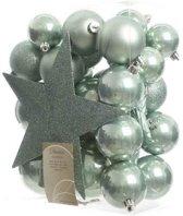 Kerstballen inclusief Piek, Eucalyptus 33 stuks
