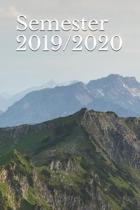 Semester 2019/2020: Kalender Wintersemester Planer Studienplaner Terminkalender