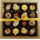 Pasen - Belgische chocolade - bonbons - melk chocolade - witte chocolade - pure chocolade - 16 vaks