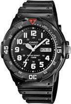 Casio MRW-200H-1BVEF - Horloge - 44.6 mm - Siliconen - Zwart