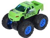 Free And Easy Speelgoedauto Monstertruck Frictie 9 Cm Groen