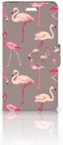 Acer Liquid Z330 Uniek Boekhoesje Flamingo