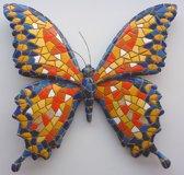 Barcino design barcelona mozaiek vlinder muurhanger oranje 15 cm