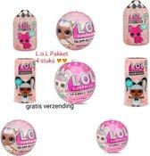 Afbeelding van L.O.L. Suprise pakket. Hair-Fuzzy-Glitter-Sparkle Ontvang 4 stuks L.O.L toppers (GRATIS VERZENDING) speelgoed