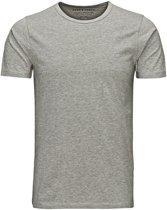 Jack & Jones Basic O-Neck Sportshirt - Maat XL  - Mannen - grijs