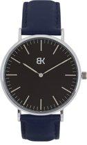 BK AMSTERDAM - Classic Black Rokin Horloge