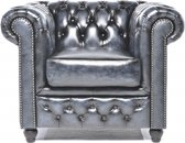 The Original Chesterfield - Brighton - Fauteuil - Zetel Salon - Met arm - Antiek Blauw