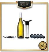 Vacuüm wijnpomp |  Inclusief professioneel kelnersmes | Inclusief 4 afsluitdoppen