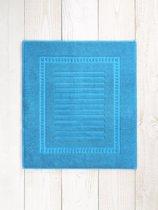 De Witte Lietaer Dolce Badmat 60 x 70 cm - Algiers blauw