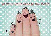 Ansichtkaarten Let your smile.. - 15x10.5 cm (10 stuks) - L