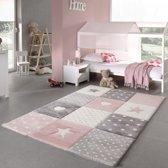 Kindervloerkleed Pastel Kids 20339-255 Pink-120 x 170 cm