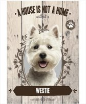 Wandbord - Westie -14x20cm-