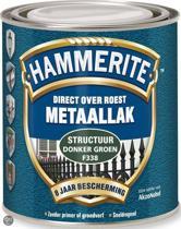 Hammerite Metaallak Structuur Donkergroen 0,75L