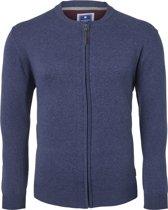 Redmond heren vest katoen - blauw (met rits) -  Maat XL