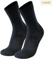 2-Pack Zachte Dunne Merino Wollen Sokken S15 - Unisex - Zwart - Maat 39-42