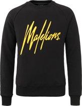 Malelions Crewneck Signature - Black/Yellow