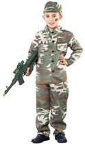 Soldaten kostuum voor jongens 120-130 (7-9 jaar)