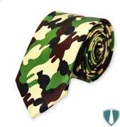 Fun & Feest stropdas leger 'camouflage'