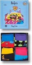 Happy Socks Kids The Beatles Limited Edition - 4-Pack Gift Box - 12-24 maanden, Maat 19/22
