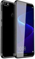 Teleplus Huawei Y5 2018 Luxury Laser Silicone Case Black + Nano Screen Protector hoesje
