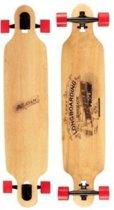 "Nijdam Pro-line Longboard 42"" Drop-through - Wooden Warrior - Zwart/Rood"