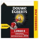 Douwe Egberts Lungo Original koffiecups - 10 x 20 cups - voordeelpak