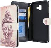 Samsung Galaxy J6 Plus (2018) hoesje - CaseBoutique - Boeddha print - Kunstleer