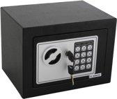 Digitale kluis TRESOR - zwart - met elektrisch cijferslot