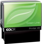 4x Colop stempel Green Line Printer Printer 40, max. 6 regels, voor Nederland, ft. 23x59mm