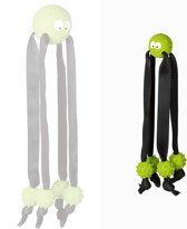 Nobby Rubber inktvis - Groen/zwart - 25 cm