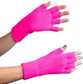 Vingerloze handschoenen fluor pink