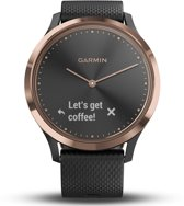 Garmin Vivomove HR - Hybride Smartwatch - Roségoud/zwart - Small/Medium