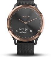 e90b119fca1 Garmin Vivomove HR - Hybride Smartwatch - Roségoud/zwart - Small/Medium