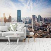 Fotobehang vinyl - Wolken boven de stad Tianjin in China breedte 480 cm x hoogte 360 cm - Foto print op behang (in 7 formaten beschikbaar)