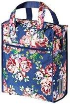 Basil Blossom Roses Shopper - Fietstas - Blauw