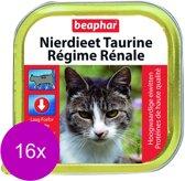 Beaphar Nierdieet Kattenvoer - Zalm - 100 gr - 16 stuks
