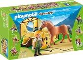 Playmobil Fjordenpaard met paardenbox - 5517