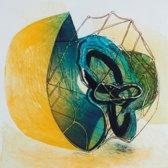 Hans Vredegoor Schilderij Ets 'Beker van verlangen 4'(62x79)