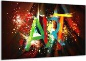Glasschilderij Abstract   Groen, Rood, Blauw   120x70cm 1Luik   Foto print op Glas    F004199