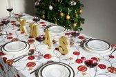 Kulglans Kerst Tafelkleed - Katoen - 145x240 cm - Wit