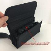LeonDesign - 1000116 - horeca portemonnee  - sterk nylon materiaal 20 x 4.5 cm INCLUSIEF MUNTHOUDER - zwart